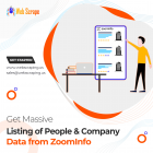 Get Massive listing of people & company data from ZoomInfo