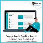 Do you need a few numbers of contact data from Xing ? scraping can help you collect thousands of contact data of professionals.