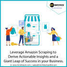 Leverage Amazon scraping to derive actionable insights and take a giant leap of success in your business planning.