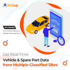 Get real-time vehicle & spare part data from multiple classified sites