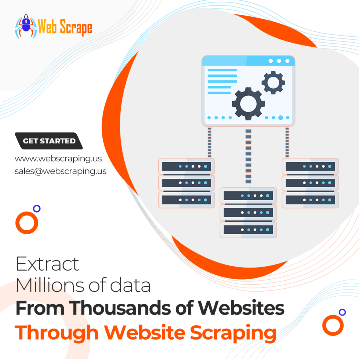 Extract Millions of data from thousands of websites through website scraping