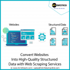 Convert websites into high-quality structured data with web scraping services