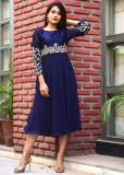 Shop Best Pattern in Blue Kurtis from Different Shades